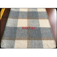 Cheap Wholesale 60 Wool 900G/M Double Sided 8CM Tartan / Plaid Fabric With Gray Twill Inside Coating Wool Fabric for sale