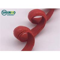 China Red silicone coating elastic tape bands with customizable widths for garment underwire on sale
