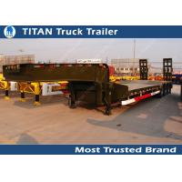 Cheap Heavy duty 55 ton 3 axle semi low bed trailer with manual ramps for Philipines for sale