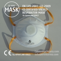 Cheap APAVE CE Approved FFP2 Cup Valved Respirator Face Mask for sale