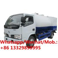 China New dongfeng 5000L propane delivery 5cbm lpg filling mini mobile gas refueling truck for domestic gas cylinders for sale on sale
