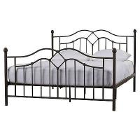 China Glossy Finish Black Iron Platform Bed , Black Pipe Bed Frame Tools Free Assembly on sale