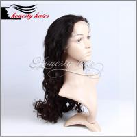 Cheap Full lace wig, 1# Natural DW 100% remy hair, Front lace/Machined wig can be customized. for sale