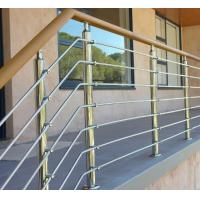 Cheap Exterior prefab railing stainless steel inox rod railing design for porch for sale