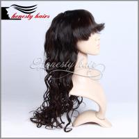 Cheap Full lace wig,  1#  Fringe 100% remy hair, Front lace/Machined wig can be customized. for sale