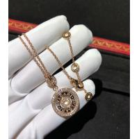 Cheap Charming Cerchi Astrale 18K Rose Gold Diamond Necklace Customization Available for sale