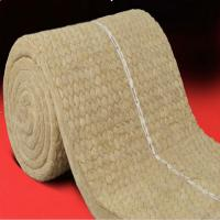 Cheap Insulation rock wool blanket with wire mesh for oven and buildings for sale