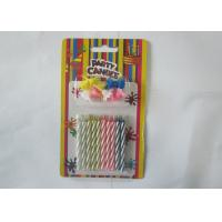 Cheap Spiral Magic Relighting Birthday Candles / Funny Trick Candles Paraffin Wax for sale