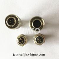 Buy cheap push pull self-locking 4pin Hirose solder pin electronic connectors from wholesalers