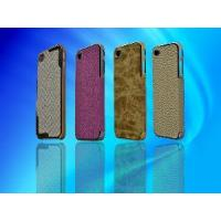 Cheap Premium Leather Exterior Case for Apple 4G/4S for sale