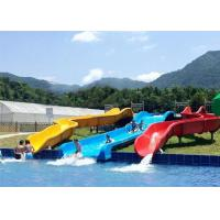 Quality Commercial Above Ground Pool Slide Fiberglass Aqua Funny Equipment wholesale