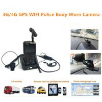 Cheap 3G / 4G Remote Control Wearable Portable Police Video Body Worn Camera With Microphone for sale