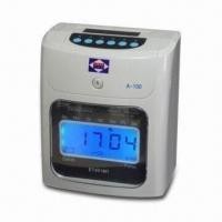 China Punch Card Time Clock with Two Color Printing and Backup Battery, Measures 130 x 188 x 221.5mm on sale