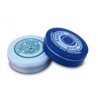 FDA Metal Round Tin Box packaging For Cream Mint / Candy Chewinggum Pack