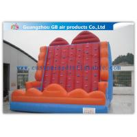 Cheap Colorful Inflatable Climbing Wall , Sports Game Velcro Bounce House Mountain for sale
