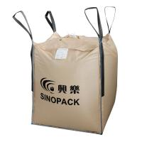 Cheap Beige Four-panel Big PP Container Bag FIBC with side seam loops for sale
