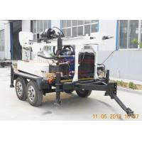 Cheap Hydraulic Rotation Water Well Drilling Equipment With 4 Wheel Trailer Mounted for sale