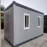 Cheap waterproof and fireproof empty layout 20ft sandwich panel container house for 8 workers for sale