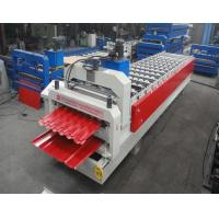 Cheap Glazed Tile / Trapezoidal Double Sheet Roll Forming Machine Width 1250MM for sale