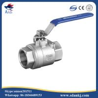 Cheap High quality 2 pcs female thread flat lever handle cf8m stainless steel ball valve for sale