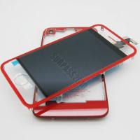 Cheap Red Clear LCD Assembly for iPhone 4 with Back Housing for sale
