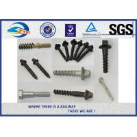 Quality High Tensile Railway Sleeper Screws HDG Plain Oiled Wax Grade 5.6 Tirafondos wholesale