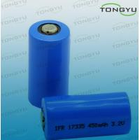 Cheap 3.2V LiFePO4 Rechargeable battery cell LFP 17335 450mAh for Lamination Devices for sale
