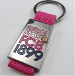 Cheap custom souvenir metal keychain for FCB 1899 football & basketball clubs for sale