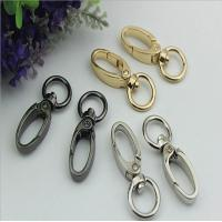 China High quality custom nickel color 15 mm round shape eye bolt snap hooks for sling bags on sale