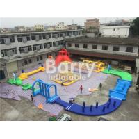 Cheap Giant 22 * 25m Adult Amazing Inflatable Water Park With Air Blower / Repair Material for sale