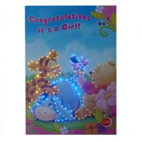 Cheap LED customized Musical Greetings Cards / greeting card with voice chip for birthday gifts for sale
