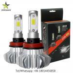 Cheap 360° Beam Angle Led Headlight Bulbs , S9 9006 Fanless H7 Led Bulb for sale