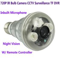 Cheap 720P IR Night Vision LED Array Bulb Camcorder CCTV Surveillance DVR Camera Remote Control for sale
