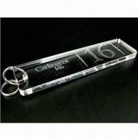 Buy cheap Acrylic gift keychain for promotional gifts or new year gift, made by clear from wholesalers