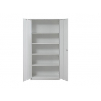 China 4 Layer Office Furniture Steel Office Cupboard KD Structure 2 Swing Door on sale