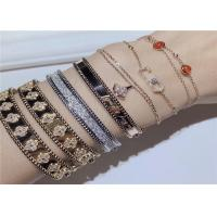 Cheap Personalized 18K Gold And Diamond Bracelet For Wife / Girlfriend dubai jewelry wholesale for sale