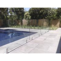 Cheap 316 Anti-Rust Stainless Steel Spigots Frameless Swimming Pool Glass Railing for sale
