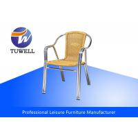 Cheap Double Anti-UV Tube Aluminium PE Wicker Rattan Chairs For Commercial for sale