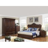 Cheap King size Wooden Beds with Bespoke Armoire in Villa and Hotel furniture FF&E solution fixture with Spring mattress for sale