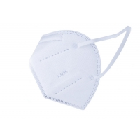 Cheap Melt Blown Disposable White KN95 Civil Protective Mask for sale