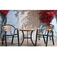 Cheap Stackable Outdoor Cast Iron Steel Dining Chairs With Plastic Soft Mats for sale
