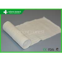 Cheap Hospital Gauze / Absorbent Gauze Roll For Wound Care , Bleached White for sale