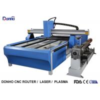 Cheap Blue CNC Plasma Metal Cutting Machine / Industrial Plasma Cutter With Rotary Axis for sale