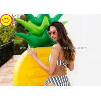 Cheap 1.4 KG Ananas Shape Inflatable Mattress Non - toxic 190*85*15cm for sale