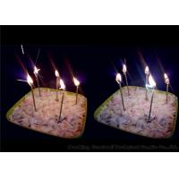 Cheap Long Thin Birthday Sparkler Candles Earthy Yellow 11g 0.26 * 9.9cm Wax Material for sale
