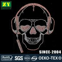 Cheap High Color Accuracy Hot Fix Rhinestone Motif With Glass / Aluminum Material for sale