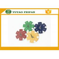 Cheap Casino Borad Game 11.5 Gram Customised Poker Chips With Foil Stamping Sticker for sale