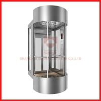 Buy cheap Semicircle Panorama High Speed Elevator Hairline Stainless Steel For Passenger Lift from wholesalers