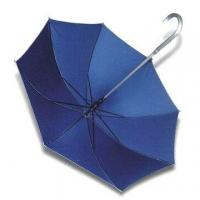 Cheap Straight Umbrella with Aluminum Crook Handle and Shaft for sale