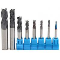 Quality 2-12 mm Carbide Solid End Mills / 4 Flutes Tungsten Carbide Cutter CNC Tools Set wholesale
